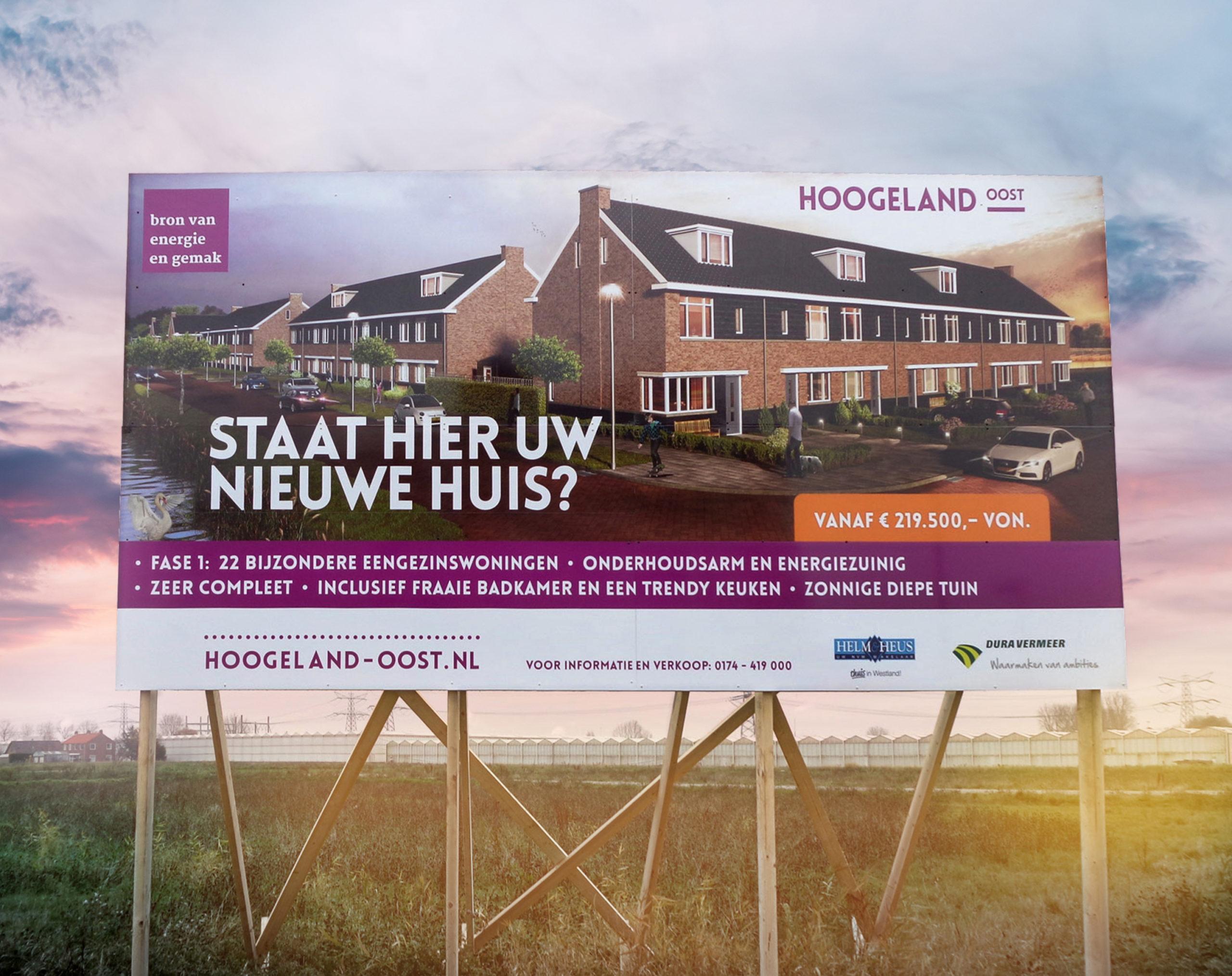 Bouwbord voor Hoogeland-Oost
