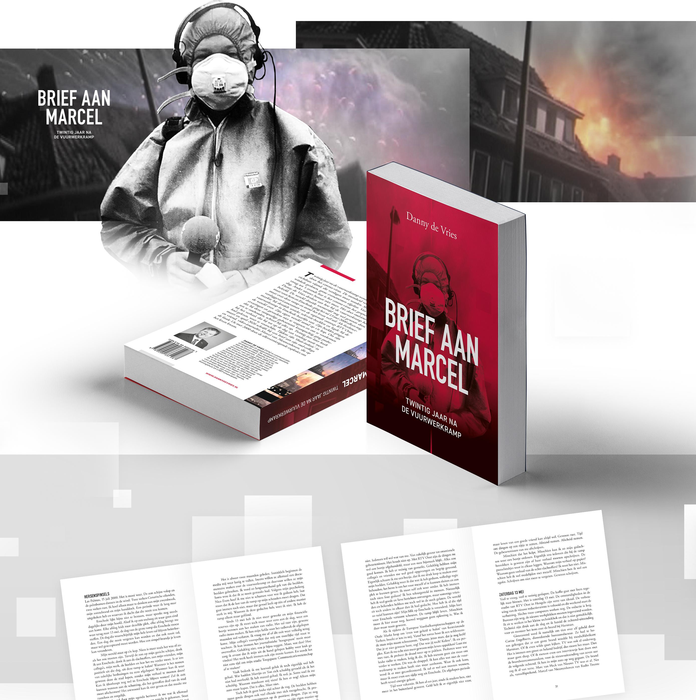 Ontwerp van het boek, Brief aan Marcel, van Danny de Vries